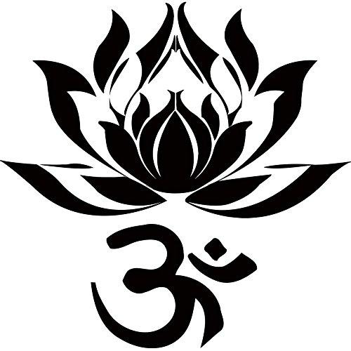 La flor de loto Vinilos decorativos de Yoga de la India las palabras del arte Namaste Buda Ganesha de vinilo pegatinas Adhesivos Decoración de interiores Diseño Mural MN776