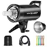 Godox SK400II 400Ws Photo Studio Strobe Flash Monolight Light with Bowens Mount &Lamp Head,150W Modeling Lamp for Studio,Shooting,Location and Portrait Photography-110V