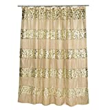 Popular Bath Sinatra Collection Seife Duschvorhang Shower Curtain Champagner/Gold