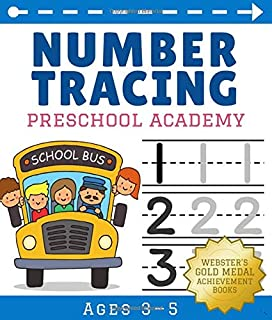 Number Tracing Book for Preschoolers and Kids Ages 3-5: Preschool Workbook for Handwriting Practice, Early Math, Counting, and Coloring. Tracing ... Phone Number Activity. (Preschool Academy)