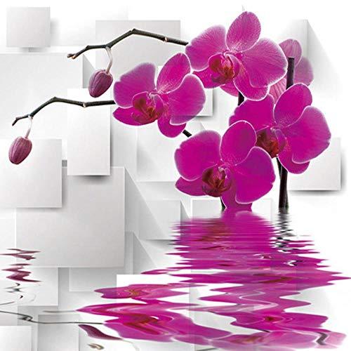 Fototapete Wandbild 3D Stereo Geometric Flower Wallpaper Wohnzimmer Tv Sofa Für Wandvlies