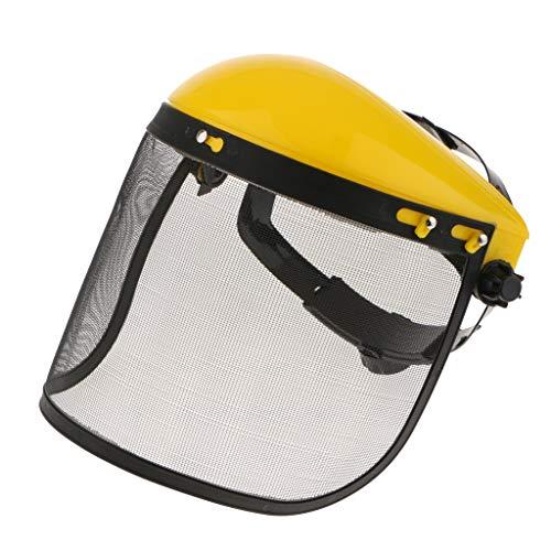 SDENSHI Deshierbe Protector Facial Visera de Malla para La Cabeza para Aserrar Madera Desbrozadora Recortadora