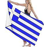 Strandtuch,Camping,Reisen,Flagge Von Griechenland Badelaken Leichtes Strandtuch Ideal Für Familienhotelreisen Schwimmen Fitness 80 * 130 cm