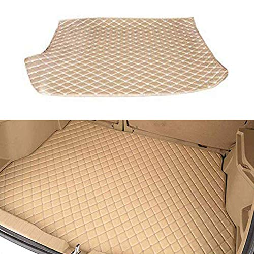 BNHHB Leather Car Rear Trunk Boot Mats for Cadillac SRX 2010-2016, Auto Boot Mat Dust-proof Boot Liner Tray Anti-scratch Mat Tailored Cargo Storage Protector Pad Foldable Carpets