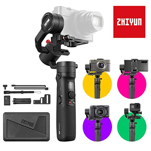 Zhiyun Crane M2 Stabilisateur Gimbal 3 Axes Portable 3 en 1 pour Caméra Vidéo, Smartphone, Action Cam, pour Sony Nikon Panasonic