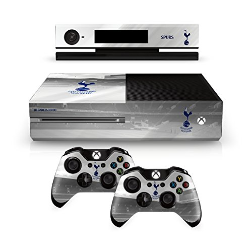 Tottenham Hotspur Spurs FC Xbox 1 One White Controller Pad And Console Skin White Hart Lane Stadium Image Club Crest Fan Gift Official