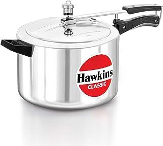 Hawkins Classic Aluminum Pressure Cooker, 8 Litre, Silver