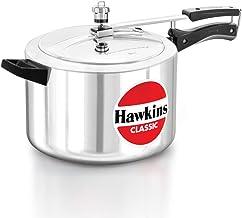 Hawkins CL8W Classic Jumbo Pressure Cooker, Silver, 8 Litre, Aluminium