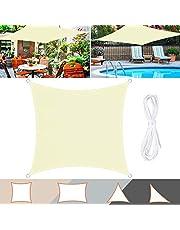 TedGem Zonnezeil, zonnezeil, waterdicht, zonwering, balkon, zonnezeil, gemaakt van hoogwaardig polyester, 160 g/m{^>2<^}, voor tuin, balkon en terras