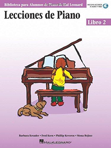 Lecciones de Piano 2 Piano (incluye accesos a audio y midi) (Biblioteca Para Alumnos de Piano de Hal Leonard)