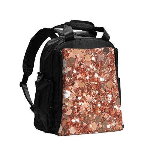 Rosa oro grande lentejuelas gran capacidad multifunción pañal bolsa mamá papá bolsa de cuidado del bebé bolsa de pañales bolsa de enfermería