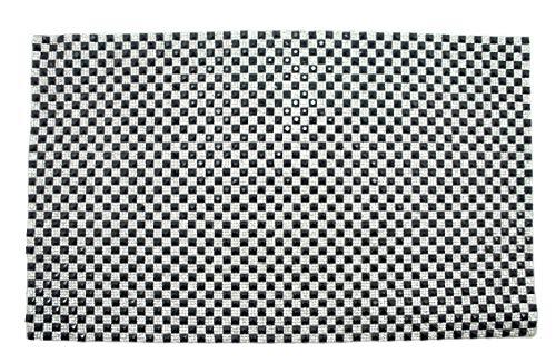 HAND ® Dekorative 6x6mm Diamante Gems Rhinstone HotFix-Eisen auf Blatt 23.5x39cm (DNTS11 Black and Clear)