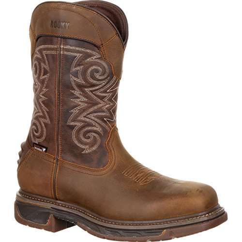 Rocky Iron Skull Composite Toe Waterproof Western Boot Size 10.5(M)
