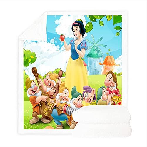 Bfrdollf Manta Disney Princesa, manta de terciopelo suave y cálido, muy suave, adecuada para niños y adultos, disponible en cualquier época del año, 18,130 x 150 cm