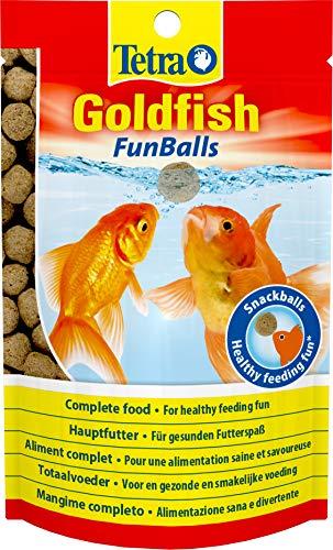 Tetra Goldfish FunBalls, schwimmende Futterbälle für alle Goldfische, 3 x 20 g