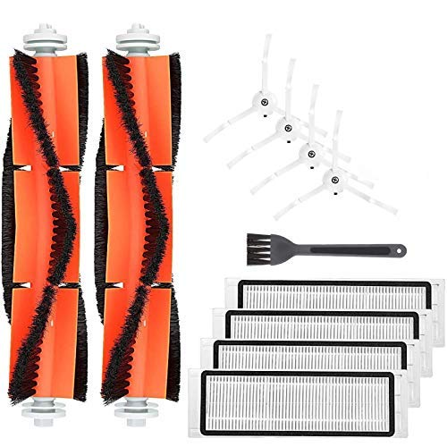 Isincer Accesorios de Repuesto XIAOMI MI Robot Aspiradora, Robot Roborock S50 S51 Piezas de Repuesto Cepillo y filtros para aspiradora