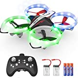 NXONE Drone for Kids and Beginners, Mini Drone with LED Lights, Altitude Hold, Headless Mode, 3D Flips, One Key Take Off/Landing and Extra Batteries, Kids Drone Toys for Boys and Girls (Red)