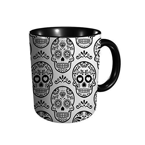 Hdadwy Calavera de azúcar mexicana Día de calaveras de caramelo de Halloween La taza divertida Novedad Taza de café Té Taza de cerámica Presente Golfistas Idea de regalo