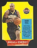 2011-12 Panini Past and Present Bread For Energy Die Cut #47 David West Pacers