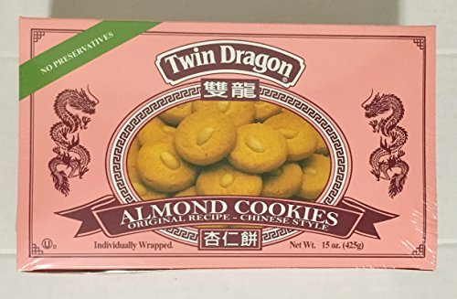 Twin Dragon Almond Cookies, 15 Oz. (Pack of 2)
