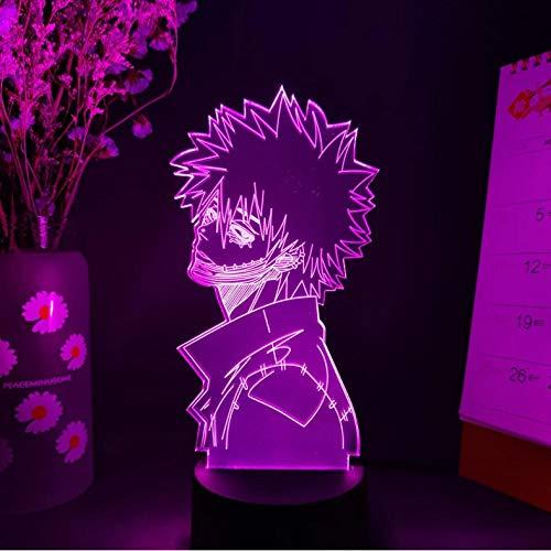 Lámpara de regalo otaku con luz de noche LED de personaje de anime japonés en la decoración del dormitorio de la mesa A 7 colores sin control remoto