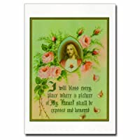 Holy note card (Large Hard)- Sacred Heart