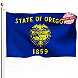 DFLIVE Double Sided Oregon State Flag 3x5ft Heavy Duty Polyester 3 Ply OR Flags Indoor and Outdoor Use