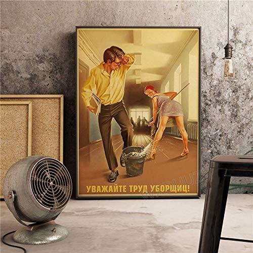 YWOHP Damas Americano Retro Art Deco Home Cafe Bar Decoración Pintura Arte de la Pared Póster Calidad Pintura de la lona-50_x_70_cm_No_Frame_19