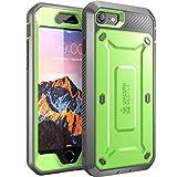SupCase iPhone 7 Hülle, iPhone 8 Hülle, [Unicorn Beetle PRO] Outdoor Schutzhülle Stoßfest Handyhülle Case mit eingebautem Bildschirmschutz & Gürtelclip für Apple iPhone 7 / iPhone 8, Grün/Grau