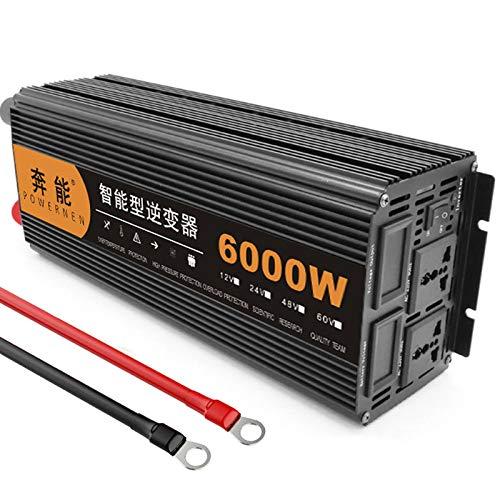 Kymzan Reiner Sinus Wechselrichter 3200 W / 4000 W / 5000 W / 6000 W / 8000 W / 9000 W / 12000 W / 15000 W Spannungswandler DC 12V/24V Auf AC 230V Umwandler - Inverter Konverter,24V-6000W