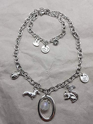Angebot Aktion Sale 2tlg Schmuckset Halskette 38 cm & Armkette 18 cm Trachtenschmuck Partnerlook Mutter Tochter Mädchen Oktoberfest Hase Dirndl