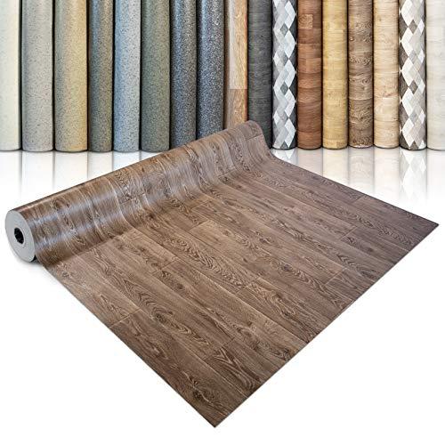 CV Bodenbelag Bartek Oak - extra abriebfester PVC Bodenbelag (geschäumt) - Bartek Eiche - edle Holzoptik - Oberfläche strukturiert - Meterware (200x150 cm)