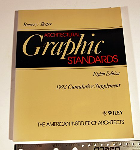 Architectural Graphic Standards: Cumulative Supplement to 8r.e