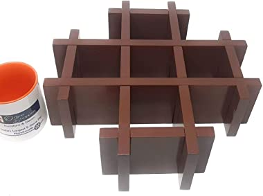 Onlineshoppee Wooden Multiple Compartments Floating Wall Shelf
