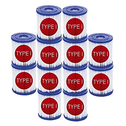 LXTOPN Filterkartuschen Gr. I, Pool-Filterkartuschen für Bestway Typ I, Kartuschenfilter Zubehör für Bestway 58381,Filterpumpe Ersatzkartusche Hocheffiziente für Spa Miami (12 pcs)