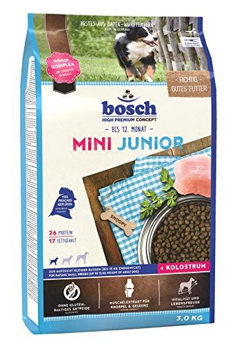 bosch HPC Mini Junior | Alimento seco para perros de cría de razas pequeñas (hasta 15 kg) | 1 x 3 kg