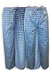 AMERICAN HEAVEN Men's 3 Pack Lounge Pajama Sleep Pants/Drawstring & Pockets Designer Woven Pant Bottoms (3 Pack- Blues Greys Plaids, Small)