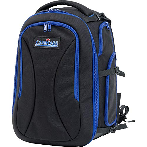 CamRade Run&Gun Backpack Medium Rugzak, Zwart, Blauw - Tas (rugzak, Universal Blackmagic Design Blackmagic Cinema Camera EF/MFT Blackmagic Design Blackmagic Micro Camera, Zwart, Blauw