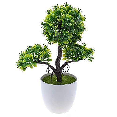 SuperglockT - Árbol Artificial de bonsái pequeño, Planta Artificial, árbol de plástico, Plantas de Interior en Maceta, Maceta de 26 cm de Altura, decoración de Oficina, habitación o Mesa