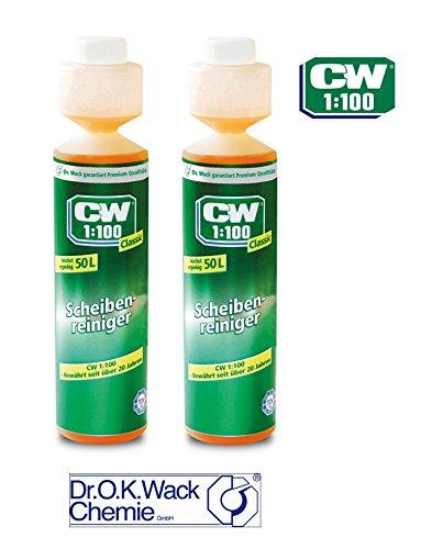 3M PRAKTISCHES Set 2 x 250 ml CW1:100 Classic SCHEIBENREINIGER 1710 Dr WACK Premium SCHEIBENREINIGER Konzentrat für Scheibenwaschanlagen/Scheinwerfer-Reinigungsanlage