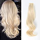 ABH AmazingBeauty Hair Real Remi Remy 100 Human Hair Tape in Extensions Remi Remy 50g 20pcs Glue in Skin Weft Tape Attached Invisible Seamless Reusable Platinum Ash Blonde Color 60 20 Inch