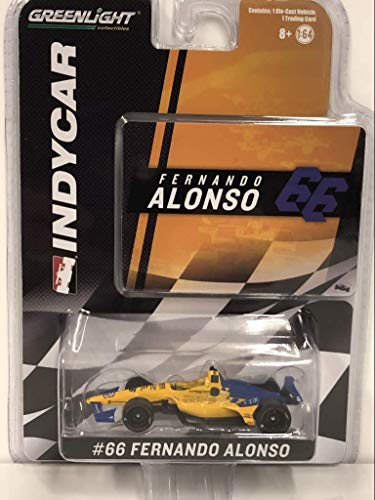 Greenlight 10845 1: 64 2019#TBD Fernando Alonso/TBD Die-Cast Vehicle, Multicolor