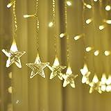 Lianqi 3.5M 96LED Luces de la Cortina del Copo de Nieve, Luces de la Cortina del árbol de Navidad, 8 Modos, diseño conectable, Luces del carámbano para Las Decoraciones del Partido/de la Navidad