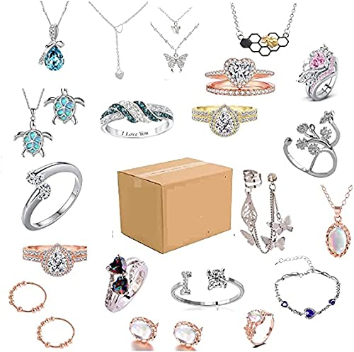 Mystery_Box Rings for Women, Lucky_Box Mystery_Boxes...