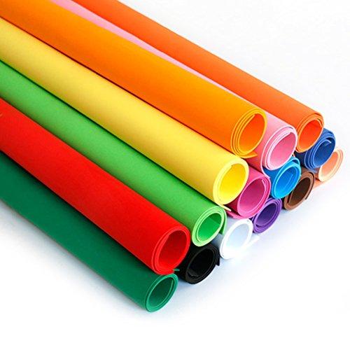 Ultnice DIY Feuilles de mousse papier pour DIY Craft Home Decor Couleurs assorties Lot de 10