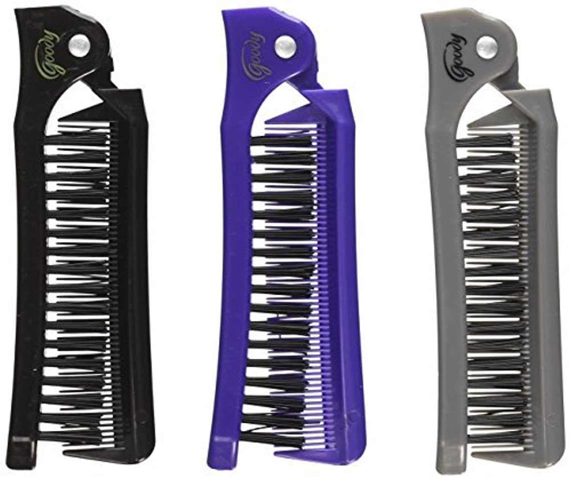 比較理解学んだGoody Style On The Go Folding Brush & Comb, Colors May Vary 1 ea (Pack of 3) [並行輸入品]