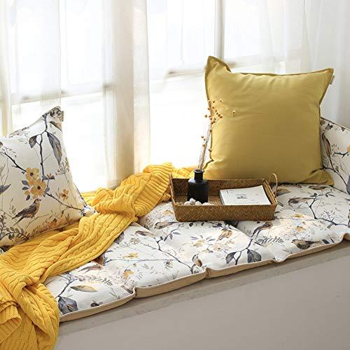 ZTMN Thicken Folding Bay venster kussen, Amerikaanse landelijke katoen vouw venster pad vensterbank tatami mat zitkussen Cover stoelen dorpel pad Antislip mat-A 70x96cm (28x38inch)
