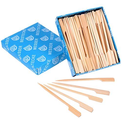 GRÄWE Fingerfood-Spieße Häppchen-Spieße 100 Stück aus Bambus