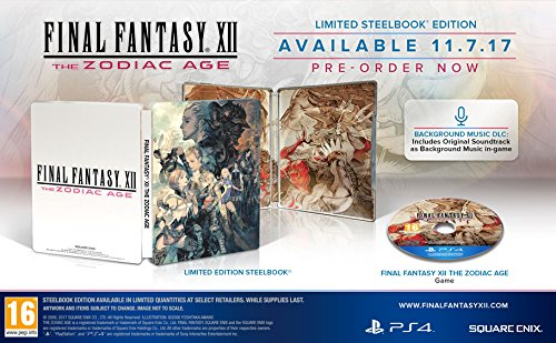 Final Fantasy XII the Zodiac Age (Limited Steelbook Edition) (PS4) (New)