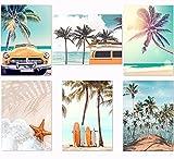 Lienzo de pared, imagen de playa, póster de pared, para dormitorio, pintura decorativa, decoración de pared, decoración de pared, decoración de salón, 6 x 31 x 21 cm (sin marco)